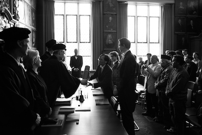A typical scene from a Dutch doctoral defense (promotie in Dutch). Photo by Rizky Anwar Sadat.